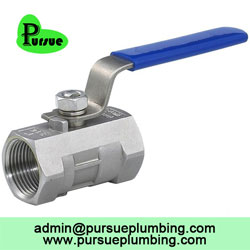 1 ball valve with drain