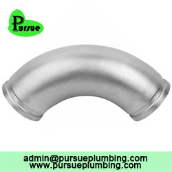 stainless 90 grooved elbow