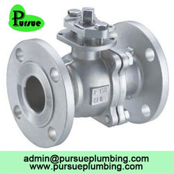 stainless steel 2 piece flange ball valve