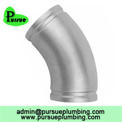 45 degree grooved elbow supplier